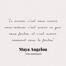 CITATION 💌 - « Le succès, c'est vous aimer vous-mêmes, c'est aimer ce que vous faites, et c'est aimer comment vous le faites » Maya Angelou.⠀⠀⠀⠀⠀⠀⠀⠀⠀ Tous les mardis découvrez une citation de femme forte, une citation qui nous inspire, qui nous tire vers le haut, qui nous booste, qui nous fait sourire.⠀⠀⠀⠀⠀⠀⠀⠀⠀ -⠀⠀⠀⠀⠀⠀⠀⠀⠀ #mardicitation #welovesabrinaparis #femmeforte #eleanorroosevelt