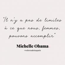 CITATION 💌 - « Il n'y a pas de limites à ce que nous, femmes, pouvons accomplir » Michelle Obama.⠀⠀⠀⠀⠀⠀⠀⠀⠀ Tous les mardis découvrez une citation de femme forte, une citation qui nous inspire, qui nous tire vers le haut, qui nous booste, qui nous fait sourire.⠀⠀⠀⠀⠀⠀⠀⠀⠀ -⠀⠀⠀⠀⠀⠀⠀⠀⠀ #mardicitation #welovesabrinaparis #femmeforte #michelleobama