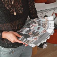 TEAM SABRINA 🐝 - Aujourd'hui nous avons reçus les catalogues de la nouvelle collection. Elle arrive dans quelques jours sur le site. Une idée des nouveaux coloris ? EXCITATION MAXIMALE 🥳 - #teamsabrina #workworkwork #catalogues