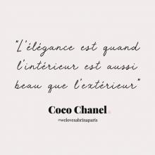CITATION 💌 - « L'élégance est quand l'intérieur est aussi beau que l'extérieur » Coco Chanel.⠀⠀⠀⠀⠀⠀⠀⠀⠀ Tous les mardis découvrez une citation de femme forte, une citation qui nous inspire, qui nous tire vers le haut, qui nous booste, qui nous fait sourire.⠀⠀⠀⠀⠀⠀⠀⠀⠀ -⠀⠀⠀⠀⠀⠀⠀⠀⠀ #mardicitation #welovesabrinaparis #femmeforte #cocochanel
